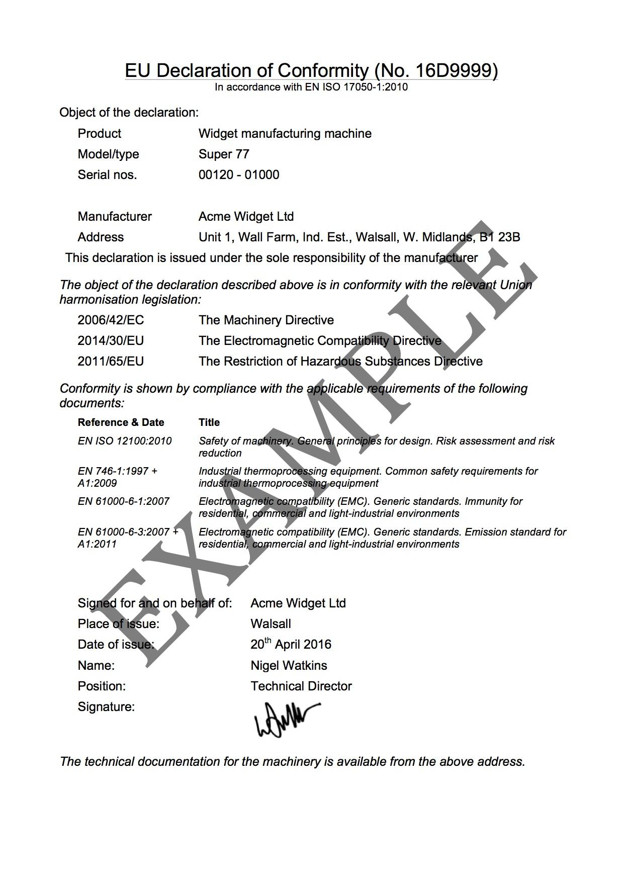 Certificate Of Origin Europe Fulfillment Employee Letter Of Intent DofC Example  Certificate Of Origin Europe Fulfillmenthtml
