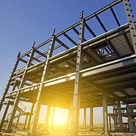 stock photo in the construction site steel structure is under construction 530074642
